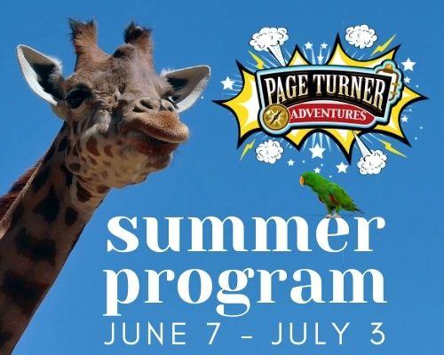 Page Turner Adventure summer library program June 7-July3